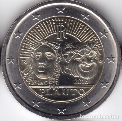 2 € EUROS - ITALIA 2016 - 2200º ANIVERSARIO DE LA MUERTE DE PLAUTO - PEDROIG - SIN CIRCULAR (Numismática - Extranjeras - Europa)