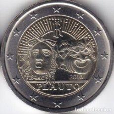 Monedas antiguas de Europa: 2 € EUROS - ITALIA 2016 - 2200º ANIVERSARIO DE LA MUERTE DE PLAUTO - PEDROIG - SIN CIRCULAR. Lote 109508711
