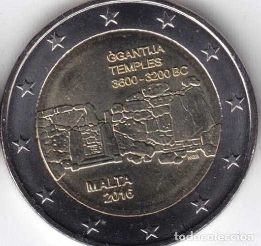 2 € EUROS - MALTA 2016 - TEMPLOS DE GGANTIJA TIRADA. 350.000 - PEDROIG - SIN CIRCULAR (Numismática - Extranjeras - Europa)