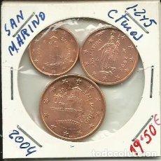 Monedas antiguas de Europa: SERIE DE CENTIMOS DE EUROS DE SAN MARINO SIN CIRCULAR. Lote 79804029