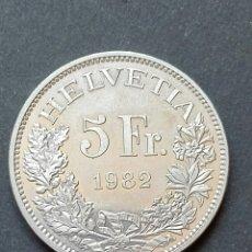 Monedas antiguas de Europa: SUIZA 5 FRANCOS CONMEMORATIVA 1982. Lote 80068913