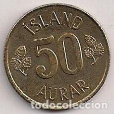 Moedas antigas da Europa: ISLANDIA - 50 AURAR 1970 - KM#17. Lote 80242793