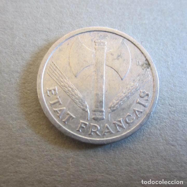 Monedas antiguas de Europa: FRANCIA. 1 FRANCO. 1942. ALUMINIO. TEMA II GUERRA MUNDIAL - Foto 2 - 80361893