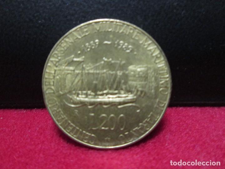 200 LIRAS 1889,1989 ITALIA CENTENARIO ARSENAL MILITAR MARITIMO DE TARANTO (Numismática - Extranjeras - Europa)