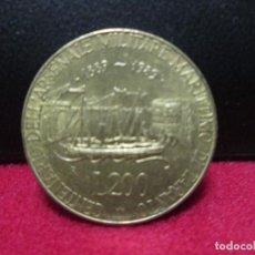 Monedas antiguas de Europa: 200 LIRAS 1889,1989 ITALIA CENTENARIO ARSENAL MILITAR MARITIMO DE TARANTO. Lote 81154516