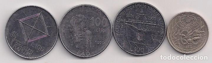 Monedas antiguas de Europa: Italia - 4 monedas conmemorativas de 1 lira - 1974-79-81-95 - KM#102-106-108-180 - Foto 2 - 81883964