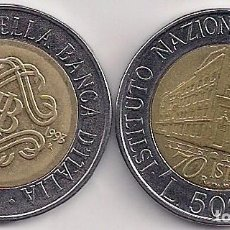Monedas antiguas de Europa: ITALIA - 2 MONEDAS DE 500 LIRAS 1993-1995 BIMETÁLICA CONMEMORATIVAS - KM#160-181 . Lote 81885316
