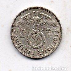 Alte Münzen aus Europa - Alemania. 2 Marcos. Año 1938 D. Plata. - 82108644