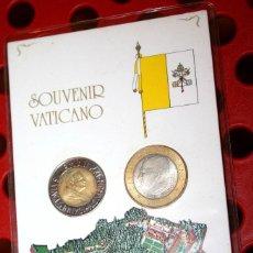 Monedas antiguas de Europa: CIUDAD DEL VATICANO 500 Y 1000 LIRAS 1999 PAPA JUAN PABLO II. Lote 82797156
