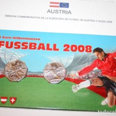 Monedas antiguas de Europa: SET AUSTRIA 2008 EMISION 2X5 EUROS CONMEMORATIVA EUROCOPA DE FÚTBOL AUSTRIA Y SUIZA 2008 MONEDAS. Lote 83072248