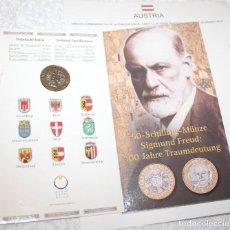 Monedas antiguas de Europa: AUSTRIA MONEDA 50 SCHILLING 2000, 100 ANIVERSARIO DE DIE TRAUMDEUTUNG 1900, OBRA DE SIGMUND FREUD. Lote 83072492
