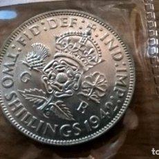Monedas antiguas de Europa: REINO UNIDO. 2 CHELINES DE PLATA DE 1942. EF. SC. Lote 83520284