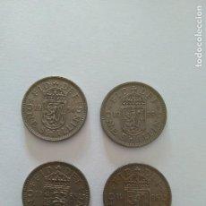 Monedas antiguas de Europa: 4 MONEDA 1 CHELIN GIBRALTAR ISABEL II. Lote 84815380