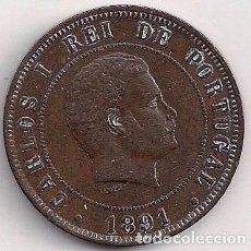 Monedas antiguas de Europa: PORTUGAL - 20 REIS 1891 - KM#533. Lote 85835968