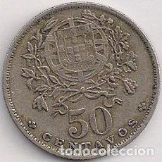 Monedas antiguas de Europa: PORTUGAL - 50 CENTAVOS 1962 - KM#577 . Lote 85842364