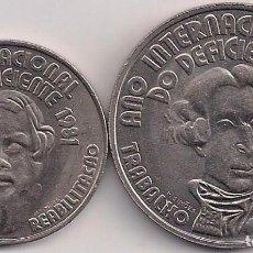 Monedas antiguas de Europa: PORTUGAL - SERIE DE 25 Y 100 ESCUDOS 1981 - KM#624-625 - AÑO INTERNACIONAL DO DEFICIENTE. Lote 85903004