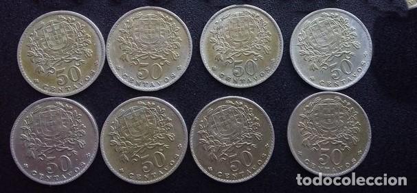 Monedas antiguas de Europa: Colección de 50 centavos Portugal Total 8 monedas - Foto 2 - 86093296