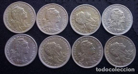 Monedas antiguas de Europa: Colección de 50 centavos Portugal Total 8 monedas - Foto 3 - 86093296