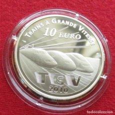 Monedas antiguas de Europa: FRANCIA 10 EURO 2010 TGV. Lote 86294672