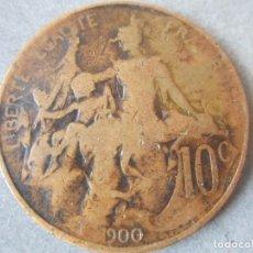 Monedas antiguas de Europa: FRANCIA.- MONEDA DE 10 CENTIMOS. 1900. Lote 86299936