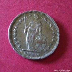 Monedas antiguas de Europa: SUIZA. 1/2 FRANCO DE 1962. PLATA. 2,5 GRAMOS.. Lote 86484156
