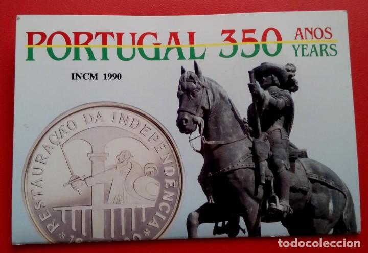 MONEDA PLATA CONMEMORATIVA A LA RESTAURACION DE INDEPENDENCIA DE PORTUGAL 1640-1990 EDICION LIMITADA (Numismática - Extranjeras - Europa)