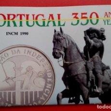 Monedas antiguas de Europa: MONEDA PLATA CONMEMORATIVA A LA RESTAURACION DE INDEPENDENCIA DE PORTUGAL 1640-1990 EDICION LIMITADA. Lote 86982560