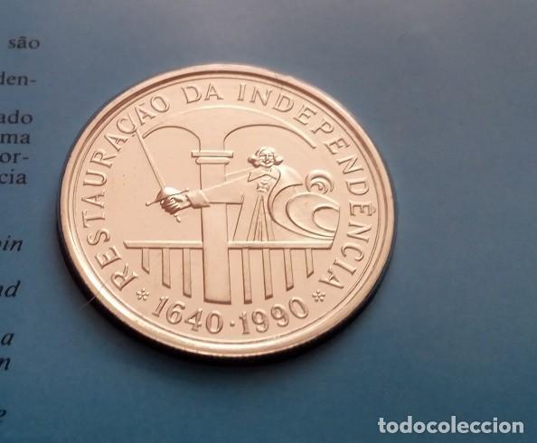 Monedas antiguas de Europa: MONEDA PLATA CONMEMORATIVA A LA RESTAURACION DE INDEPENDENCIA DE PORTUGAL 1640-1990 EDICION LIMITADA - Foto 4 - 86982560