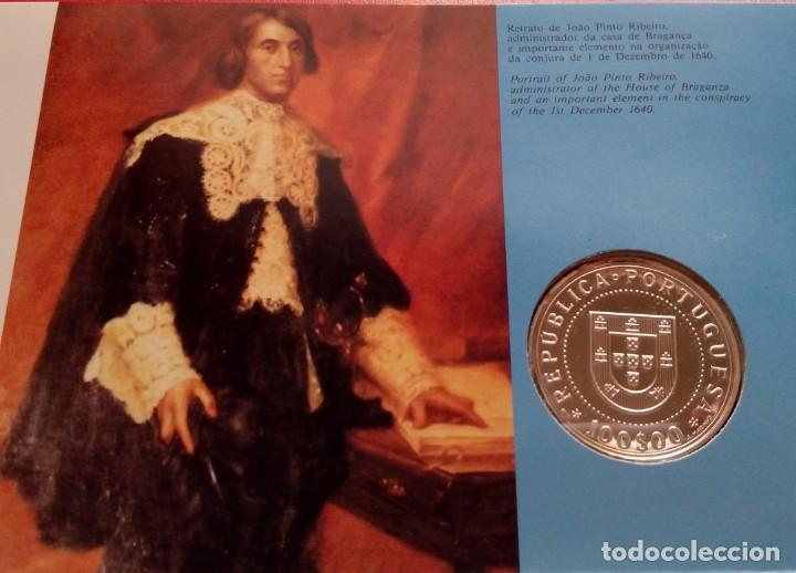 Monedas antiguas de Europa: MONEDA PLATA CONMEMORATIVA A LA RESTAURACION DE INDEPENDENCIA DE PORTUGAL 1640-1990 EDICION LIMITADA - Foto 6 - 86982560