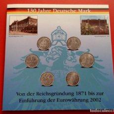 Monedas antiguas de Europa: INTERESANTE BLISTER DE 12 MONEDAS A 130 AÑOS DEL MARCO ALEMAN DE 1871 A 2002 CUANDO ENTRA EL EURO. Lote 86983964