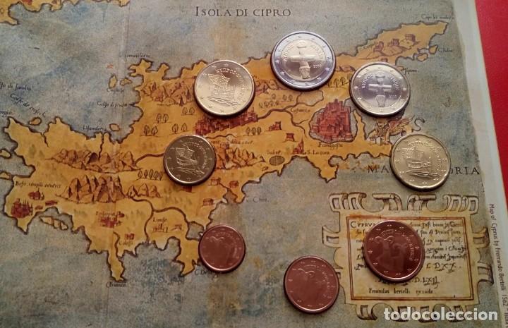 BLISTER CONMEMORATIVO A LA ENTRADA DE CHIPRE EN EL EURO 2008 DEL CENTRAL BANK OF CYPRUS (Numismática - Extranjeras - Europa)