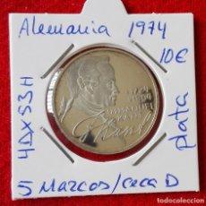 Monedas antiguas de Europa: MONEDA DE PLATA DE ALEMANIA - 5 MARCOS DE 1974 - CECA D. Lote 87367700