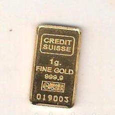 Monedas antiguas de Europa - LINGOTE DE ORO FINO DE 1 GRAMO DEL CREDIT SUISSE. (0284). - 154649665