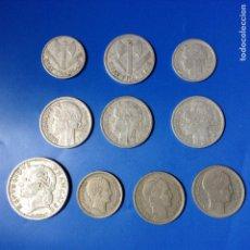 Monedas antiguas de Europa: FRANCIA LOTE 10 MONEDAS EPOCA DE LA 2ª GUERRA MUNDIAL Y POSTGUERRA. Lote 87534031