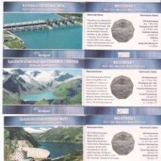 Monedas antiguas de Europa: 4 X 5 EUROS AUSTRIA 2003 EN CARTERA MINIBLISTER, WASSERKRAFT, CICLO DEL AGUA. Lote 88849936