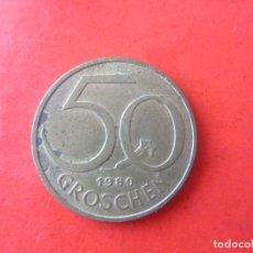 Monedas antiguas de Europa: AUSTRIA. 50 GROSCHEN. 1980. Lote 90457009