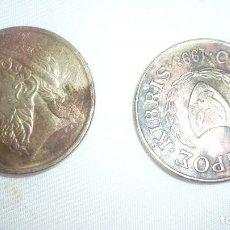 Monedas antiguas de Europa: DOS MONEDAS GRIEGAS. Lote 90667240