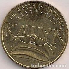 Monedas antiguas de Europa: POLONIA - 2 ZLOTE 2010 - Y# 721 - 70 ANIVERSARIO - MASACRE DEL BOSQUE DE KATYN. Lote 90758190
