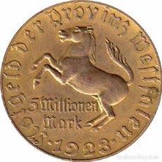 Monedas antiguas de Europa: ALEMANIA. WESTFALIA. 5 MILLONES DE MARCOS. 1.923. Lote 90864790