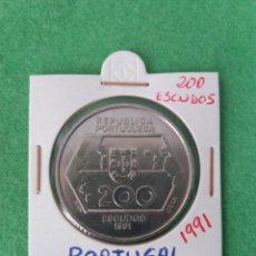 Monedas antiguas de Europa: MONEDA PORTUGAL 200 ESCUDOS 1991. Lote 90871448