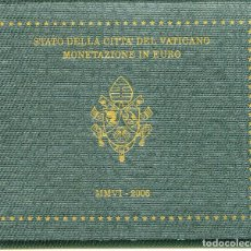 Alte Münzen aus Europa - VATICAN CARTERA EURO COIN SET 2006 OFFICIAL ISSUE - 90920940