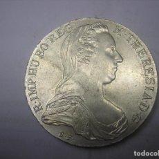 Monedas antiguas de Europa: THALER DE PLATA , REACUÑACIÓN. 1780. MARÍA TERESA DE AUSTRIA. Lote 91051515