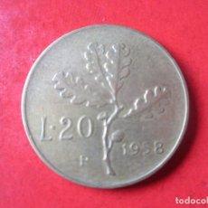 Monedas antiguas de Europa: ITALIA. 20 LIRAS 1958. Lote 91531240