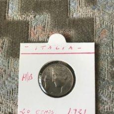 Monedas antiguas de Europa: ITALIA 20 CENTESIMI 1921 MBC KM 44 . Lote 91573335