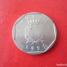 Monedas antiguas de Europa: MALTA. MONEDA DE 5 CENTS. 1991. Lote 91692855