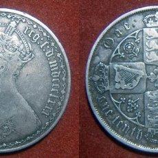 Monedas antiguas de Europa: MONEDA DE REINO UNIDO UN FLORÍN. REINA VICTORIA. 1862. PLATA ESTILO GOTICO. Lote 91748055