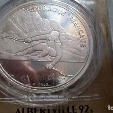 Monedas antiguas de Europa: FRANCIA. 100 FRANCOS DE PLATA DE 1992. ALBERTVILLE. ENCAPSULADA. Lote 91843065