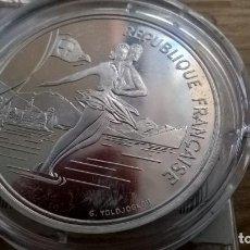 Monedas antiguas de Europa: FRANCIA. 100 FRANCOS DE PLATA DE 1989. ALBERTVILLE. ENCAPSULADA. Lote 91950330