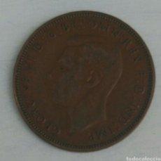 Monedas antiguas de Europa: MONEDA DE 1947 ONE PENNY DE INGLATERRA REY GEORGIUS XI. Lote 92070434