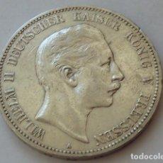 Monedas antiguas de Europa: MONEDA DE PLATA 5 MARCOS IMPERIO ALEMAN PRUSIA 1903 BERLIN, KAISER GUILLERMO II, ESCASA. Lote 93599790